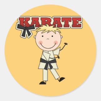 KARATE - camisetas y regalos rubios del muchacho Pegatina