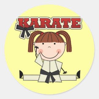 KARATE - camisetas y regalos triguenos del chica Pegatinas Redondas