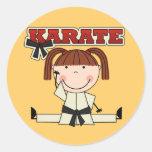 KARATE - camisetas y regalos triguenos del chica Pegatina Redonda