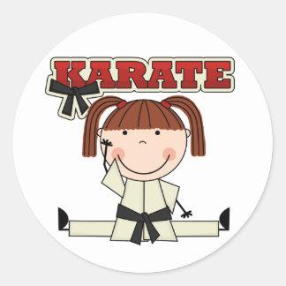 KARATE - camisetas y regalos triguenos del chica Etiqueta Redonda
