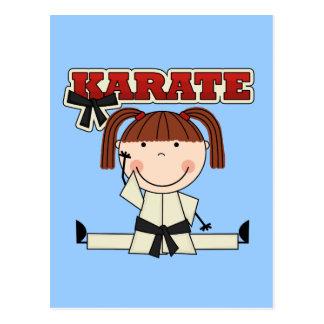 KARATE - camisetas y regalos triguenos del chica Tarjetas Postales