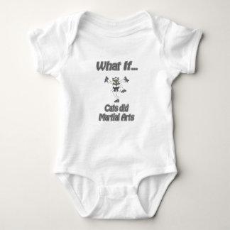 Karate cat baby bodysuit