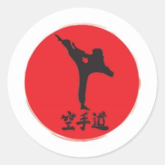 Karate cepillado pegatinas
