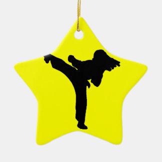 Karate Ceramic Ornament