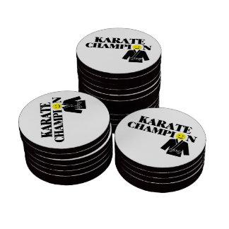 Karate Champion Smiley Face Poker Chip Set