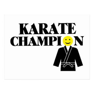 Karate Champion Smiley Face Postcard