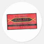 Karate Championship Classic Round Sticker