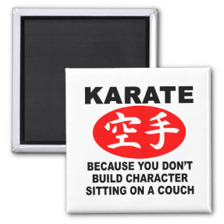 Karate Character Refrigerator Magnet