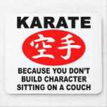 Karate Character Mouse Pads