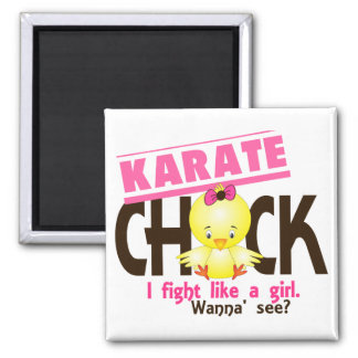 Karate Chick 1 2 Inch Square Magnet