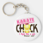 Karate Chick 1 Basic Round Button Keychain