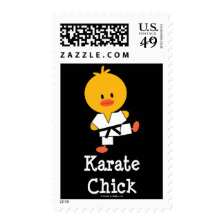Karate Chick Postage Stamps