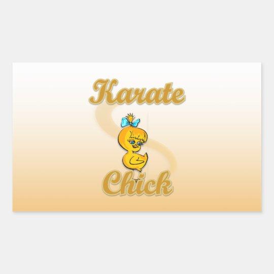 Karate Chick Rectangular Sticker