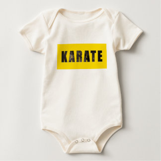Karate Chiseled Text Baby Bodysuit
