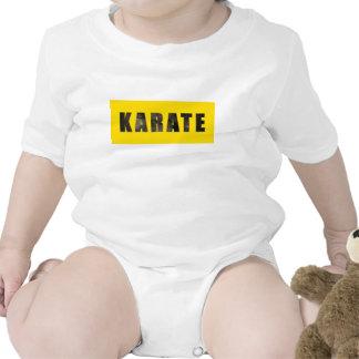Karate Chiseled Text Bodysuits