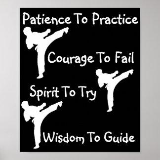 karate class poster