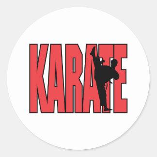 Karate Classic Round Sticker