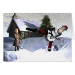 Karate Claus Greeting Card