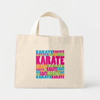 Karate colorido bolsa tela pequeña