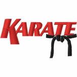 karate con la correa negra camiseta polo