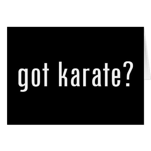 ¿karate conseguido? tarjetas