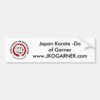 Karate de Japón - haga Etiqueta De Parachoque