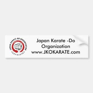 Karate de Japón - haga Pegatina De Parachoque