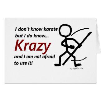 Karate de Krazy Tarjetón