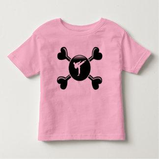 Karate de la bandera pirata t-shirt
