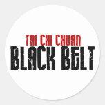 Karate de la correa negra de Chuan de la ji del Pegatina Redonda