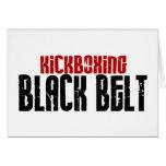 Karate de la correa negra de Kickboxing Felicitaciones