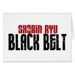 Karate de la correa negra de Shorin Ryu Tarjeta