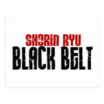 Karate de la correa negra de Shorin Ryu Tarjetas Postales