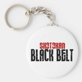 Karate de la correa negra de Shotokan Llavero Redondo Tipo Pin