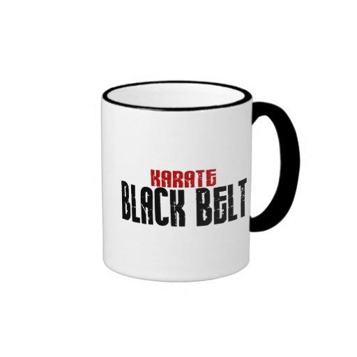 Karate de la correa negra del karate tazas