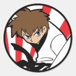 Karate de la correa negra/pegatina trigueno del mu