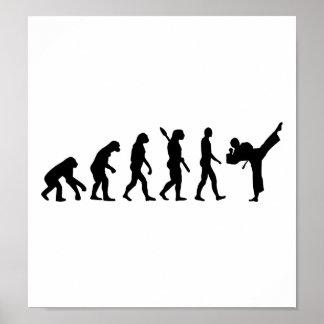 Karate de la evolución kickboxing póster