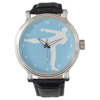 Karate de los azules cielos relojes de pulsera