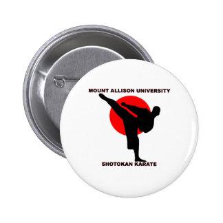 Karate de Shotokan de la universidad de Allison de Pin Redondo 5 Cm