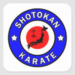 Karate de Shotokan Pegatina Cuadrada
