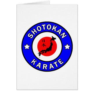 Karate de Shotokan Tarjeta De Felicitación