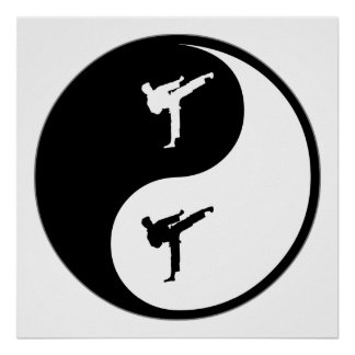 Karate de Yin Yang Impresiones