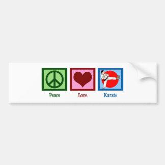 Karate del amor de la paz pegatina para auto
