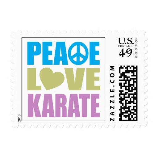 Karate del amor de la paz sellos