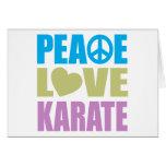 Karate del amor de la paz tarjetas