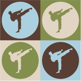 Karate del arte pop escultura fotografica