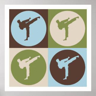 Karate del arte pop poster