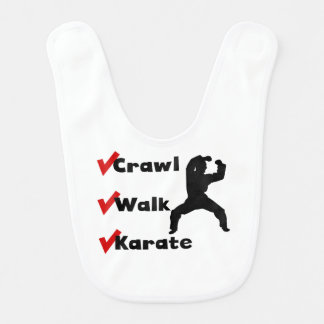 Karate del paseo del arrastre baberos