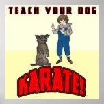 Karate del perro 1 poster