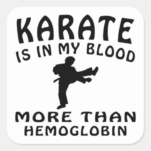 Karate Design Square Sticker